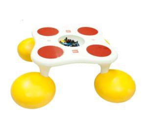 Игровой стол со встроенными стульчиками вид 1