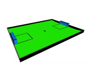 Поле Футбол c наклонами вид 1