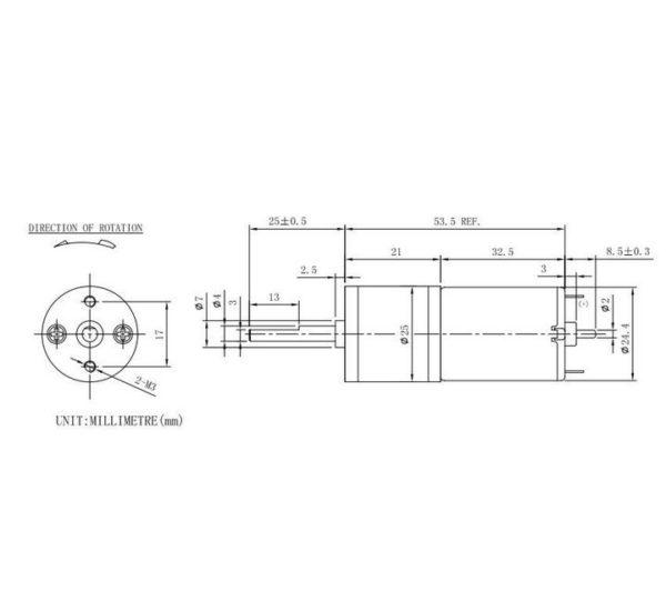 Ресурсный набор 25mm DC Motor Pack-Blue вид 3