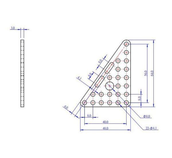Треугольная пластина Triangle Plate 68 (Pair) вид 2