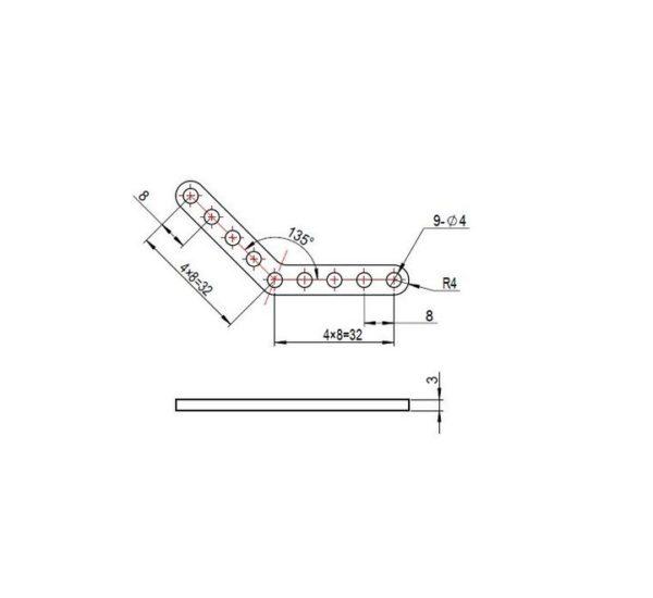 Пластины с изгибом 45° (пара)